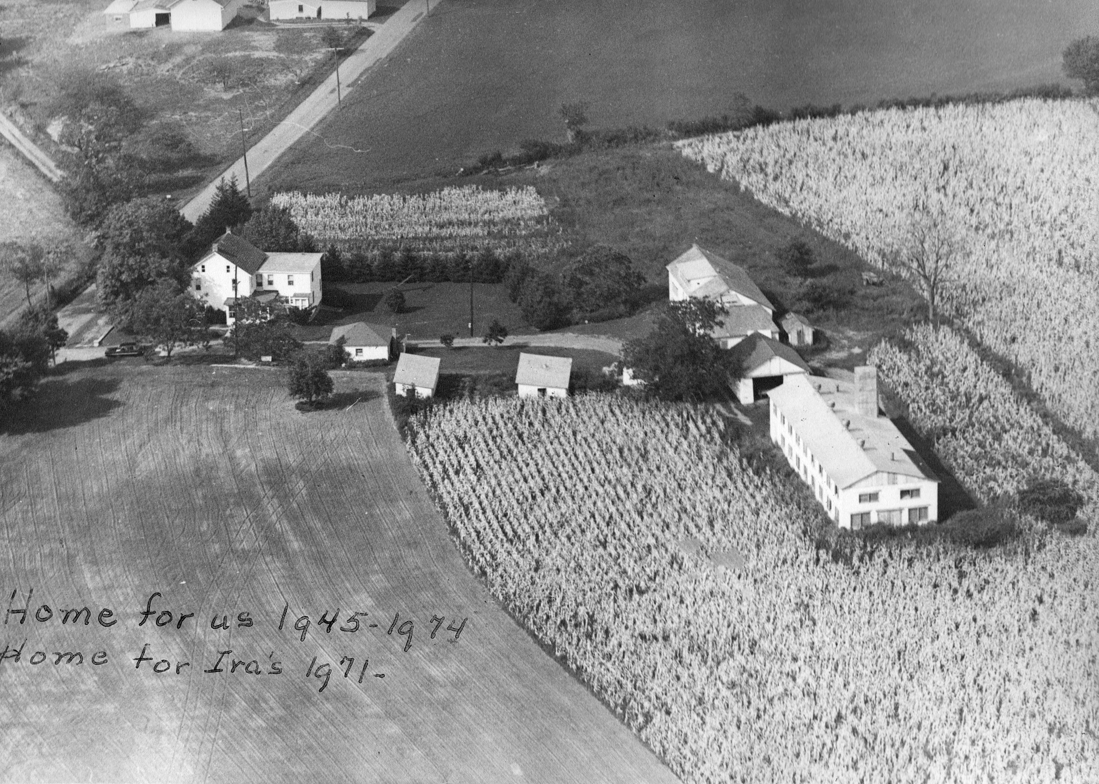 Aerial of the Shank farm